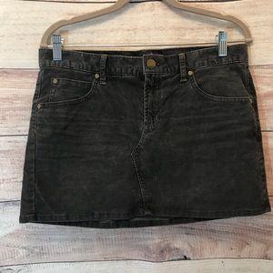 Gap 1969 Size 27/ 4 Dark Gray Corduroy Mini Skirt